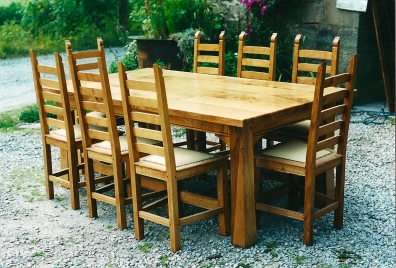 Refectory-Table-Ladderback-Chairs